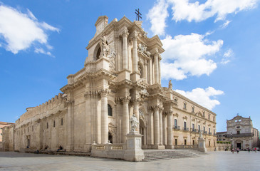 The Cathedral (Duomo) in Syracuse, Sicily, Italy Fototapete