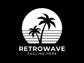 Retrowave Logo Monochrome