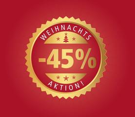 45% Weihnachtsaktion vector