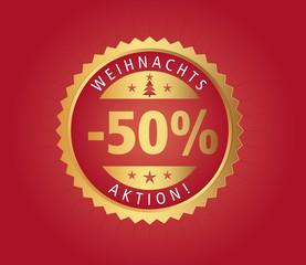 50% Weihnachtsaktion vector