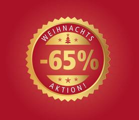 65% Weihnachtsaktion vector