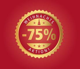 75% Weihnachtsaktion vector