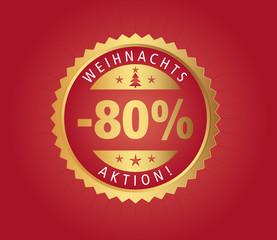 80% Weihnachtsaktion vector