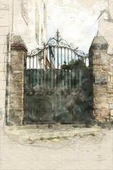 Old driveway gate