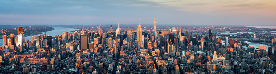Spoed Fotobehang New York City Manhattan Skyline Panorama, New York City, USA