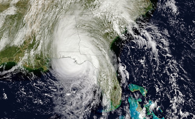 Hurricane Michael near Florida. Elements of this image are furnished by NASA