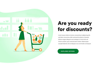 Ecommerce homepage promotes discounts
