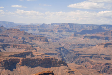 View of Grand canyon on sunny day