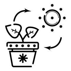 eco energy icon vector illustration