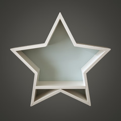Christmas decoration empty white star