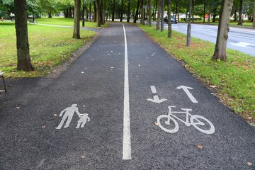 Goteborg bicycle path