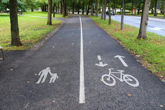 Goteborg bicycle path