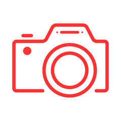 Camera flat web icon with high quality outline symbol. Web or mobile app