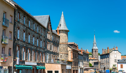 Towers in Saint-Flour, a town in Central France