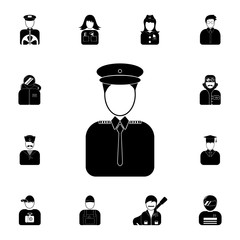 the doorman's avatar icon. Detailed set of avatars of profession icons. Premium quality graphic design icon. One of the collection icons for websites, web design, mobile app