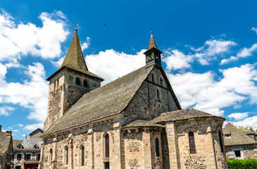 Church in Riom-es-Montagnes village, France
