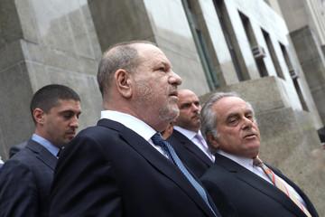 Film producer Harvey Weinstein exits New York Supreme Court with attorney Brafman in Manhattan in New York City