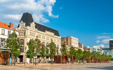 Historic buildings in Clermont-Ferrand, France