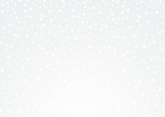 Merry Christmas and happy new year background with cute snowflakes. Xmas Vector illustration in bright silver color.