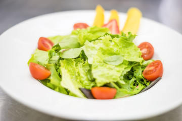 Healthy, light salad with fruits