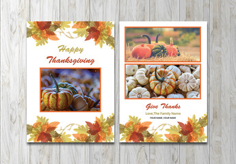 Thanksgiving Card Layout