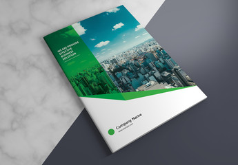 Business Brochure Layout with Green Elements