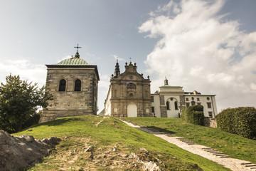 Printed kitchen splashbacks Monument Benedictine monastery and basilica, Holy Cross, Swietokrzyskie Mountains.