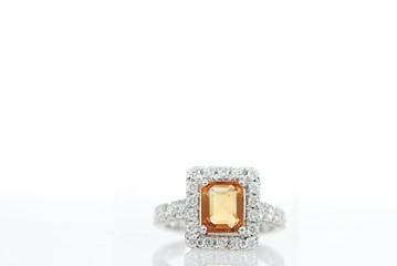 luxury jewelry on white background