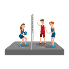 group of athletes practicing sport