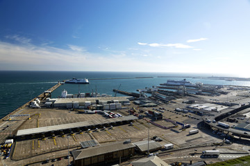Port of Dover in 16. September 2018. Dover ( United Kingdom )