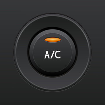 Air conditioning button. Car dashboard element