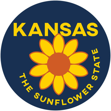 kansas: the sunflower state | digital badge