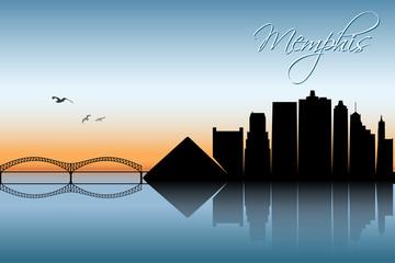 Memphis skyline - Tennessee