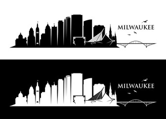 Fototapete - Milwaukee skyline - Wisconsin