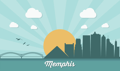 Wall Mural - Memphis skyline - Tennessee
