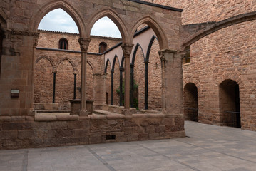 Castle of Cardona, gothic and romanesque style fortress in Barcelona, Spain