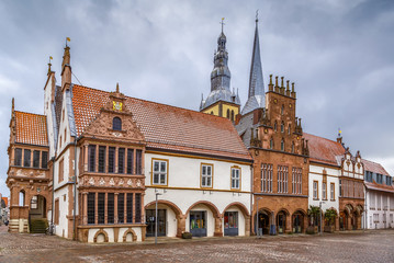 Fototapete - Market Square of Lemgo, Germany