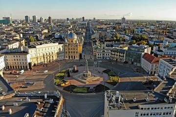Obraz Łódź, Polska- widok na centrum. - fototapety do salonu