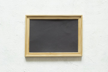 Picture frame with a clean black background for writing text. Copy space.