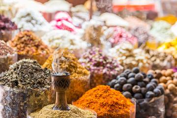 Dubai spice souk, Dubai city, United Arab Emirates, Asia