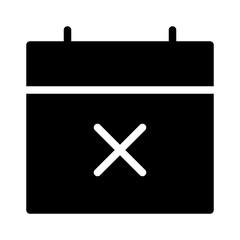 Calendar Delete Year Scedule Date vector icon