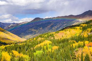 Rainbow Over Red Mountain Pass. The San Juan Mountains of Colorado in Autumn