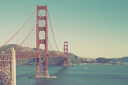Golden Gate Bridge , San Francisco USA-vintage effect filter style picture