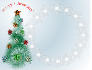 Christmas theme, abstract background, greeting card
