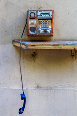 Old style romanian public phone