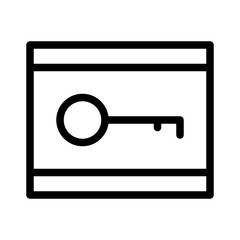 Cryptography Key Encrypt Code vector icon