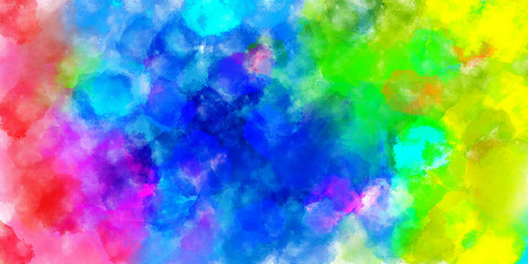 The Colorful watercolor abstract pattern background. Illustration