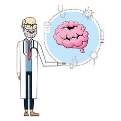 Doctor and medicine cartoon