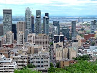 Vue sur Montréal du parc Mont Royal, Québec