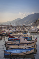 Fishing boats in the port of Camogli - Liguria - Italy